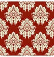 Beige floral seamless pattern vector image vector image