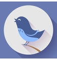 Bird singing icon Flat design style vector image vector image