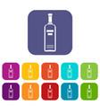 bottle of vodka icons set vector image vector image
