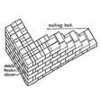 brickwork mortar vintage engraving vector image vector image
