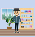 business man worker at office vector image vector image