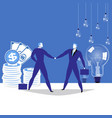 business partnership concept vector image vector image
