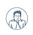 businessman avatar portrait business man sketch vector image vector image