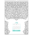 calendar 2017 for coloring vector image vector image