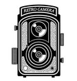 camera photo old retro vintage icon stock vector image vector image