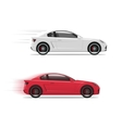 Cars racing fast flat auto moving on high vector image