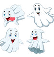 cartoon funny ghost collection set vector image
