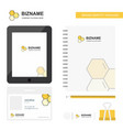 cells business logo tab app diary pvc employee vector image