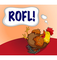 Chicken laughing with expression word vector image vector image