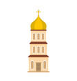 church tower icon flat style vector image