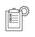 Clip board work cogwheels icons