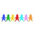 color friends vector image