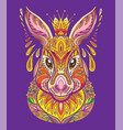 colorful hare vector image vector image