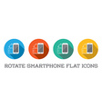Colorful Rotate Round Flat Smartphone or Cellular vector image vector image