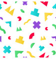 colorful seamless pattern with geometric random vector image vector image