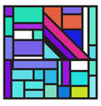 colorful trendy geometric elements memphis poster vector image vector image