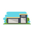commercial storehouse structure isolated icon vector image