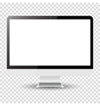 Computer monitor isolated on transparent vector image