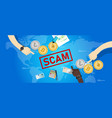 cryptocurrency fraud investment scam crypto vector image vector image
