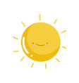 cute hot sun vector image vector image