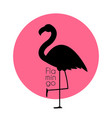 cute pink flamingo icon vector image vector image