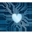 Cyberheart vector image vector image