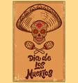 dia de los muertos day dead mexican sugar vector image