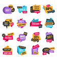 discount tags product ads special offer badges vector image vector image