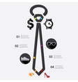 fashion infographic vector image