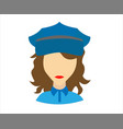 female police vector image vector image