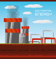 flat concept geothermal generator energy vector image vector image
