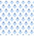 ghost cartoon halloween blue pattern vector image