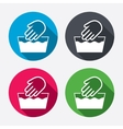 Hand wash sign icon Not machine washable symbol vector image vector image