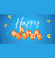 happy birthday party balloon web banner card vector image