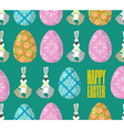 Happy Easter Easter seamless pattern Traditional vector image vector image