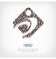 hero people sign 3d vector image vector image