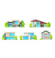 houses cottages villas and bungalow icons vector image vector image