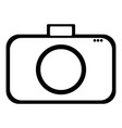 icon symbol of the flat design of the camera vector image