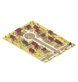 isometric low poly suburb vector image vector image