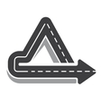 Looping triangular tarred highway vector image vector image