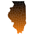 map of illinois vector image vector image