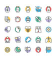 medical and health cool icons 5 vector image vector image