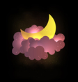 Moon clouds and stars Sweet dreams wallp vector image vector image