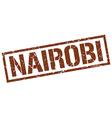 Nairobi brown square stamp vector image vector image