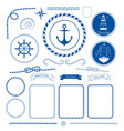 nautical sea frame collection marine rope boat