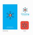 network company logo app icon and splash page vector image vector image