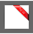 new red corner ribbon vector image