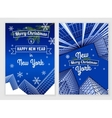 New Year postcard template vector image
