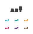 of gambling symbol on thimbles vector image