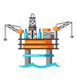 oil sea platform vector image